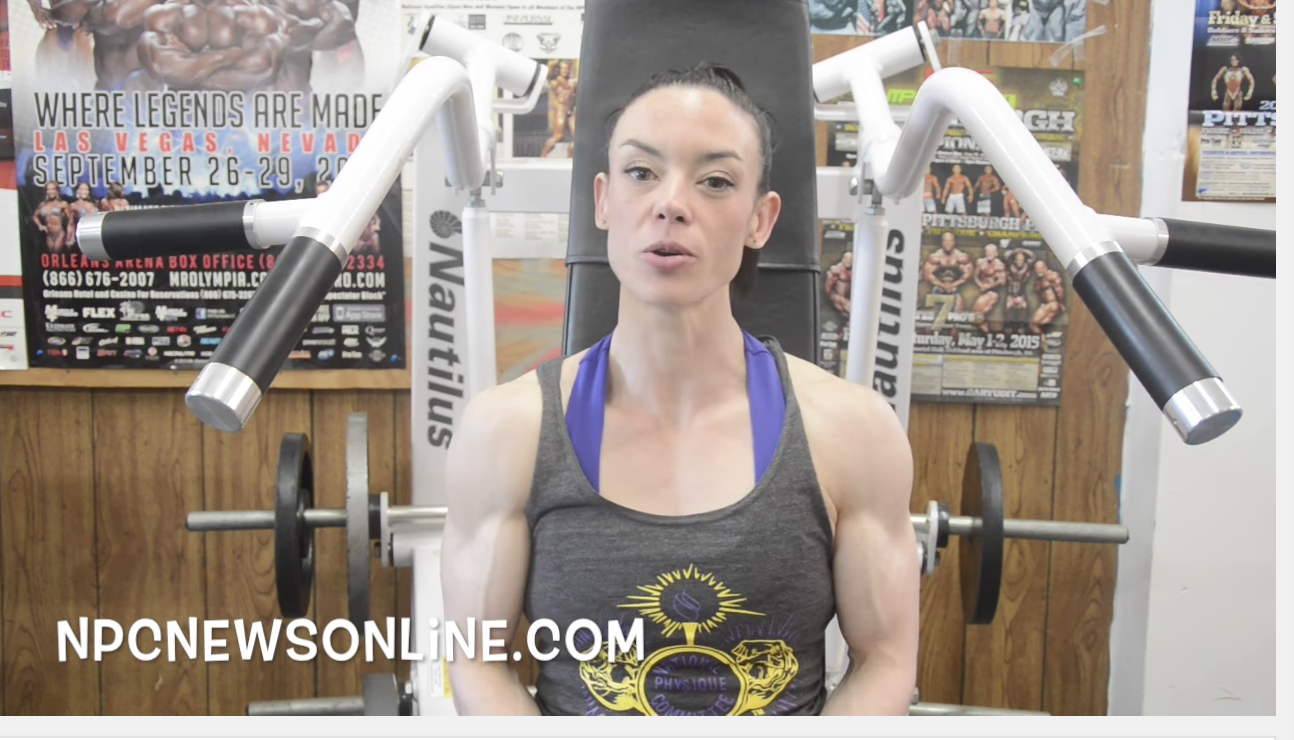 IFBB Fitness Pro Jodi Boam Back Workout