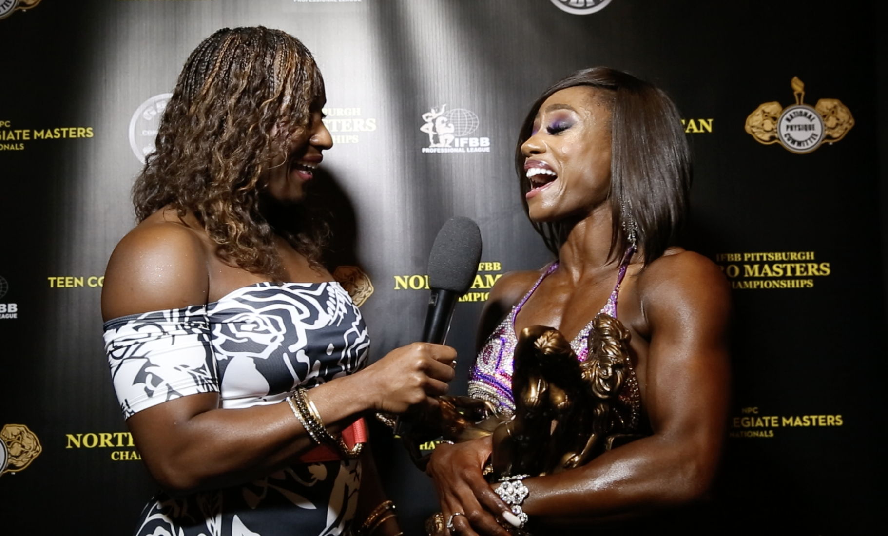 2017 NPC Teen, Collegiate & Masters Nationals Women's Figure Winner Interviews (5 Videos)