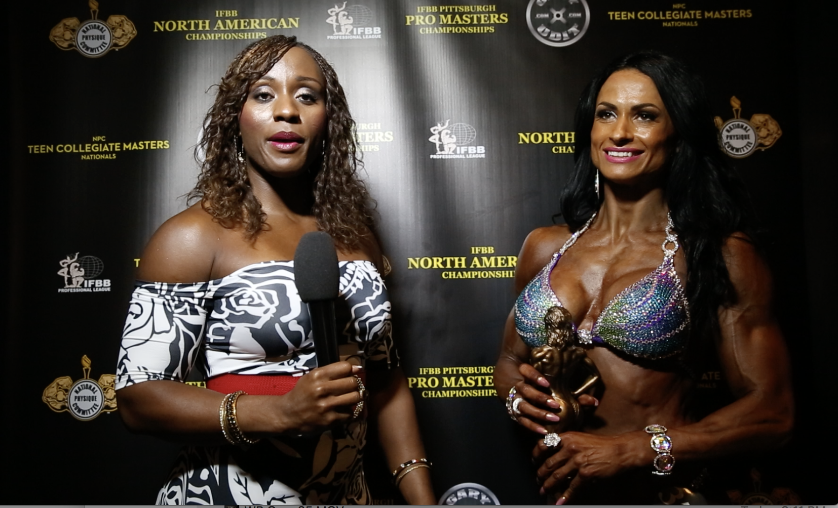 2017 NPC Teen, Collegiate & Masters Nationals Women's Physique Winner Interviews: 4 Videos