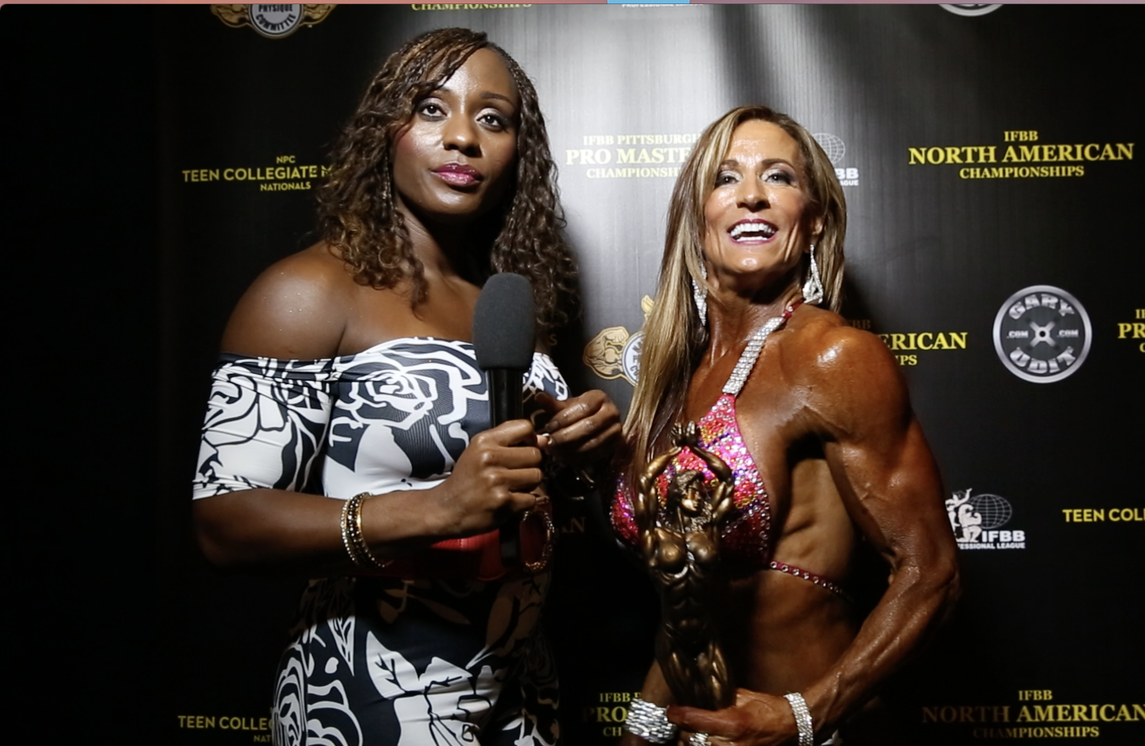 2017 NPC Teen, Collegiate, Masters Nationals Over 50 Overall Women's Physique Winner Ellen Savary
