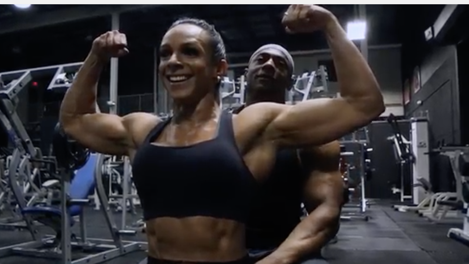 James Davis, IFBB Classic Physique doing a delt demolition training session with Petala Rosas