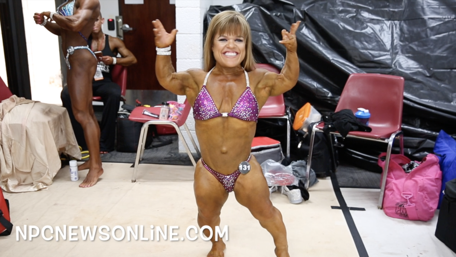 2017 NPC USA Women's Physique Backstage Video