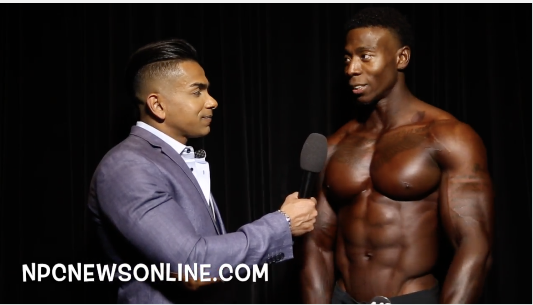 2017 NPC USA Men's Physique Overall Winner Kyron Holden Interviewed By Freddy Mac.