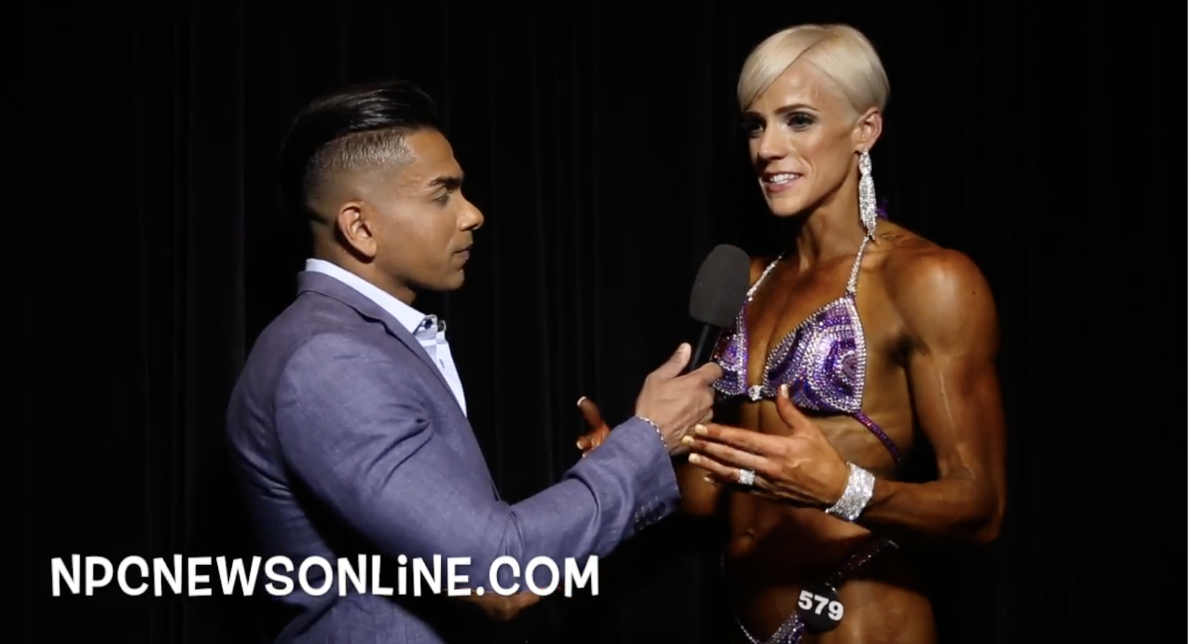 2017 NPC USA  Men's Physique Overall Nicole Wolf Interviewed By Freddy Mac.
