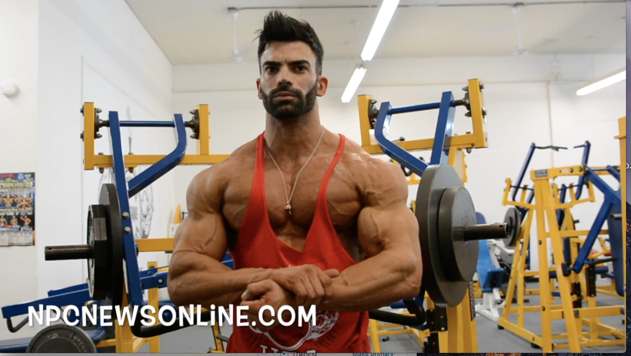 IFBB Pro Sergi Constance Chest/Triceps Workout At The NPC Photo Gym. Filmed By J.M. Manion: See Video
