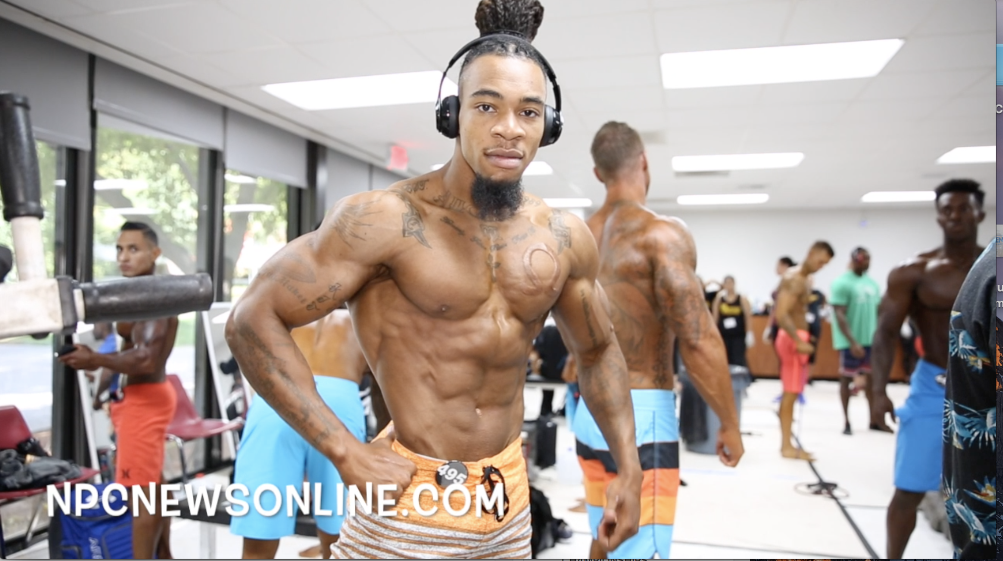2017 NPC USA Men's Physique Backstage Video