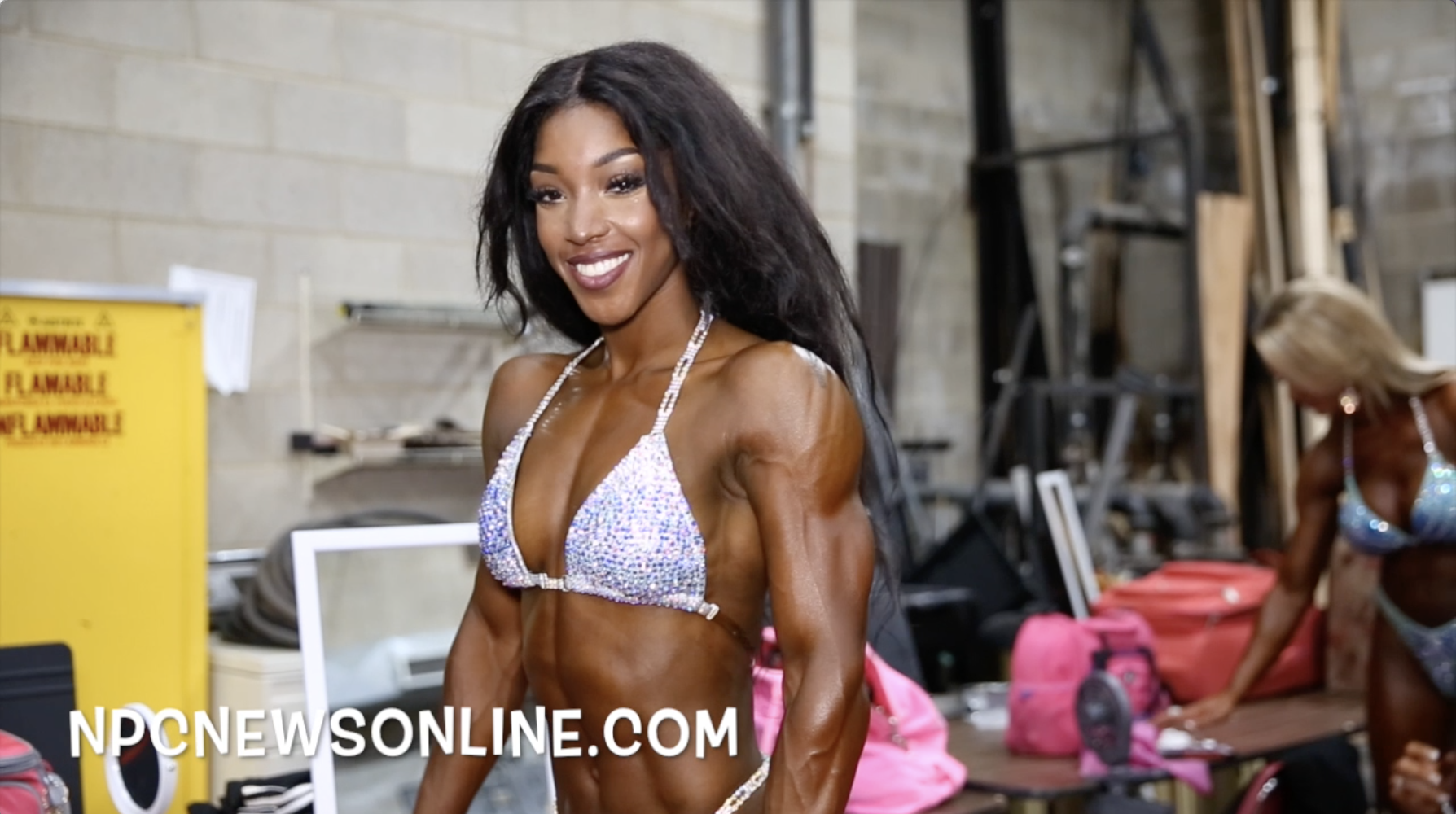 2017 NPC USA Women's Figure  Backstage Video