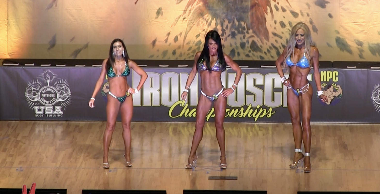 2017 NPC IRON MUSCLE CHAMPIONSHIPS BIKINI OPEN OVERALL VIDEO