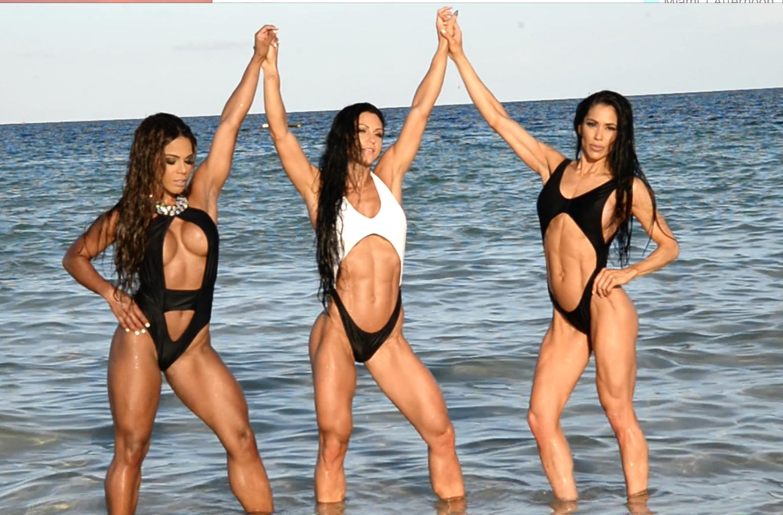 2017 J.M. Manion South Beach, Miami Shoot Video: IFBB Bikini Pro's Anita Herbert, Yarishna Ayala, Jen Ronzitti