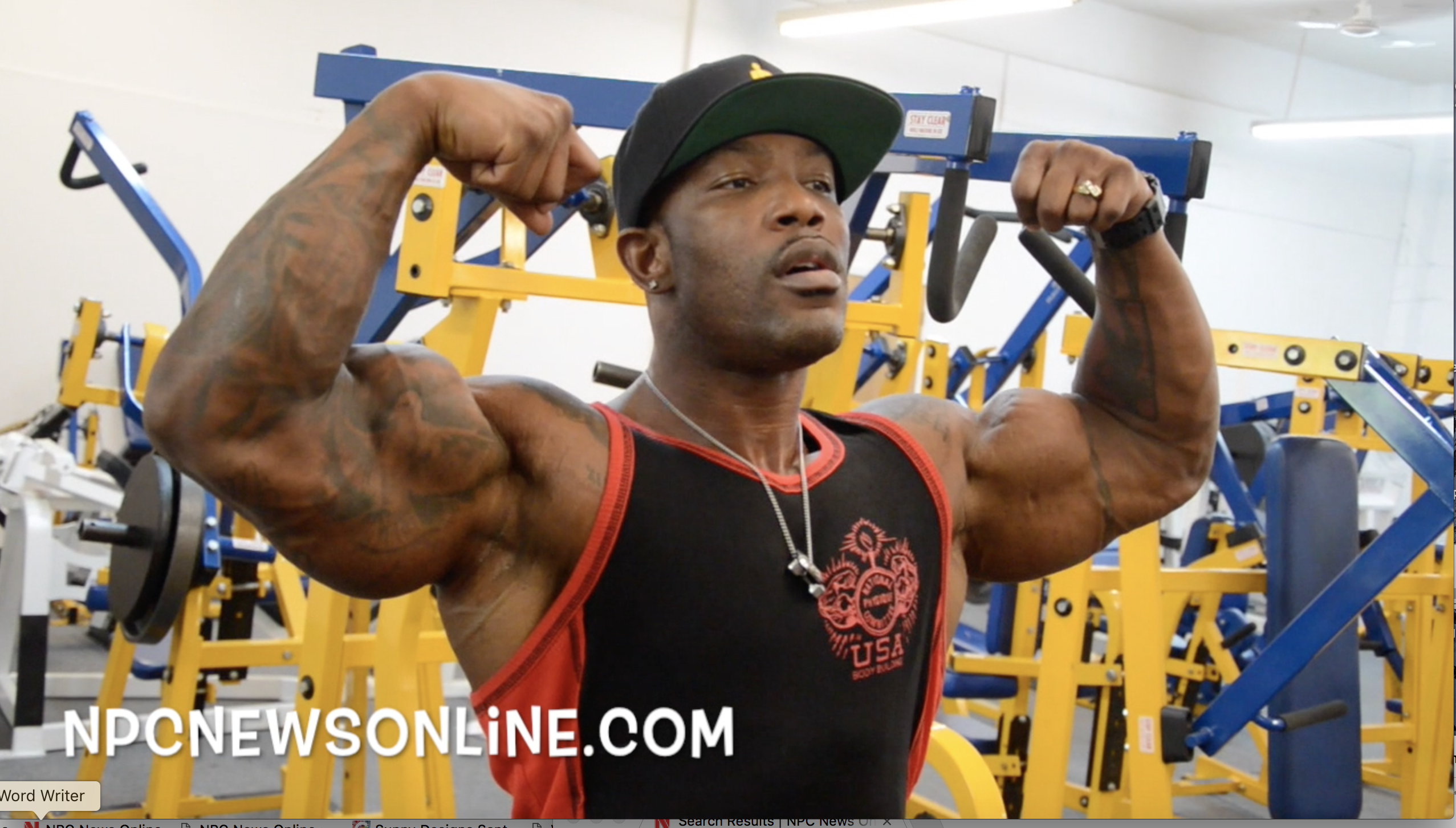 IFBB Men's Physique Pro Antoine Williams Chest/Shoulder/Triceps Workout At The NPC Photo Gym