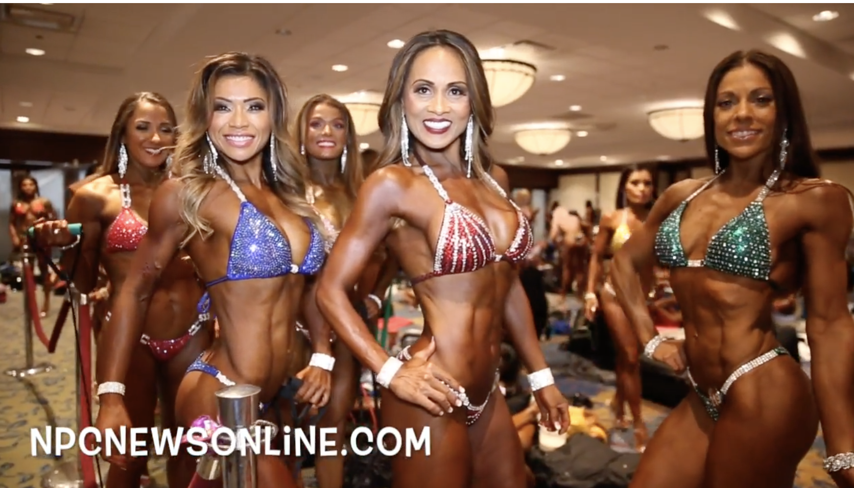 2017 IFBB North American Bikini Masters Backstage Video