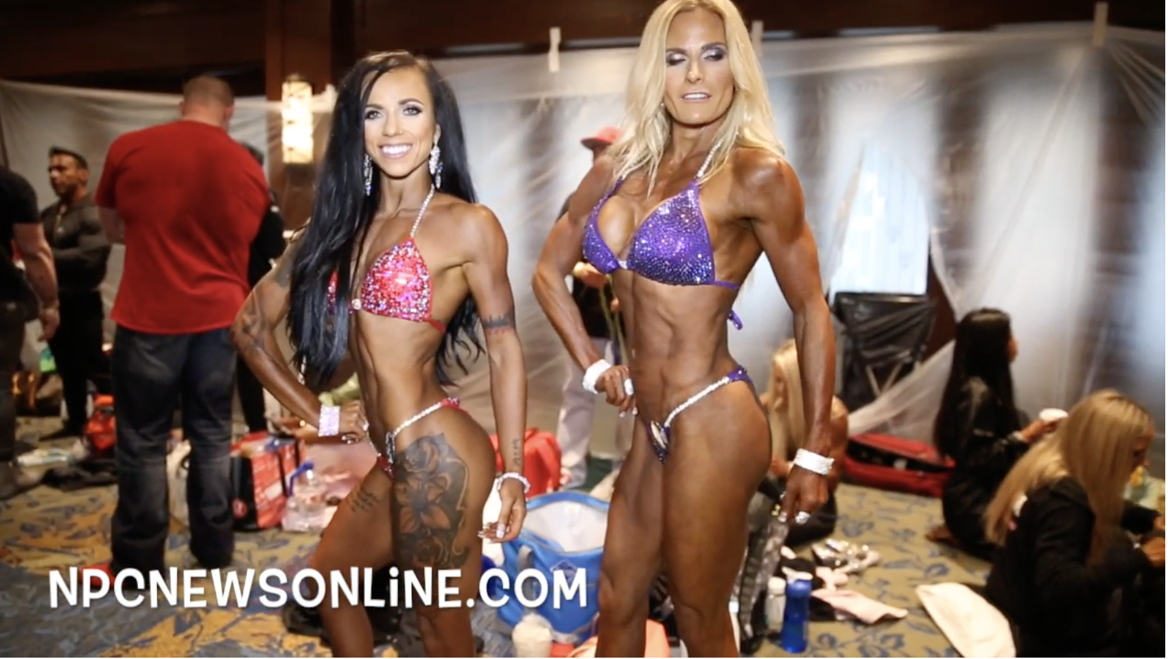2017 IFBB North American Open Bikini Backstage Video