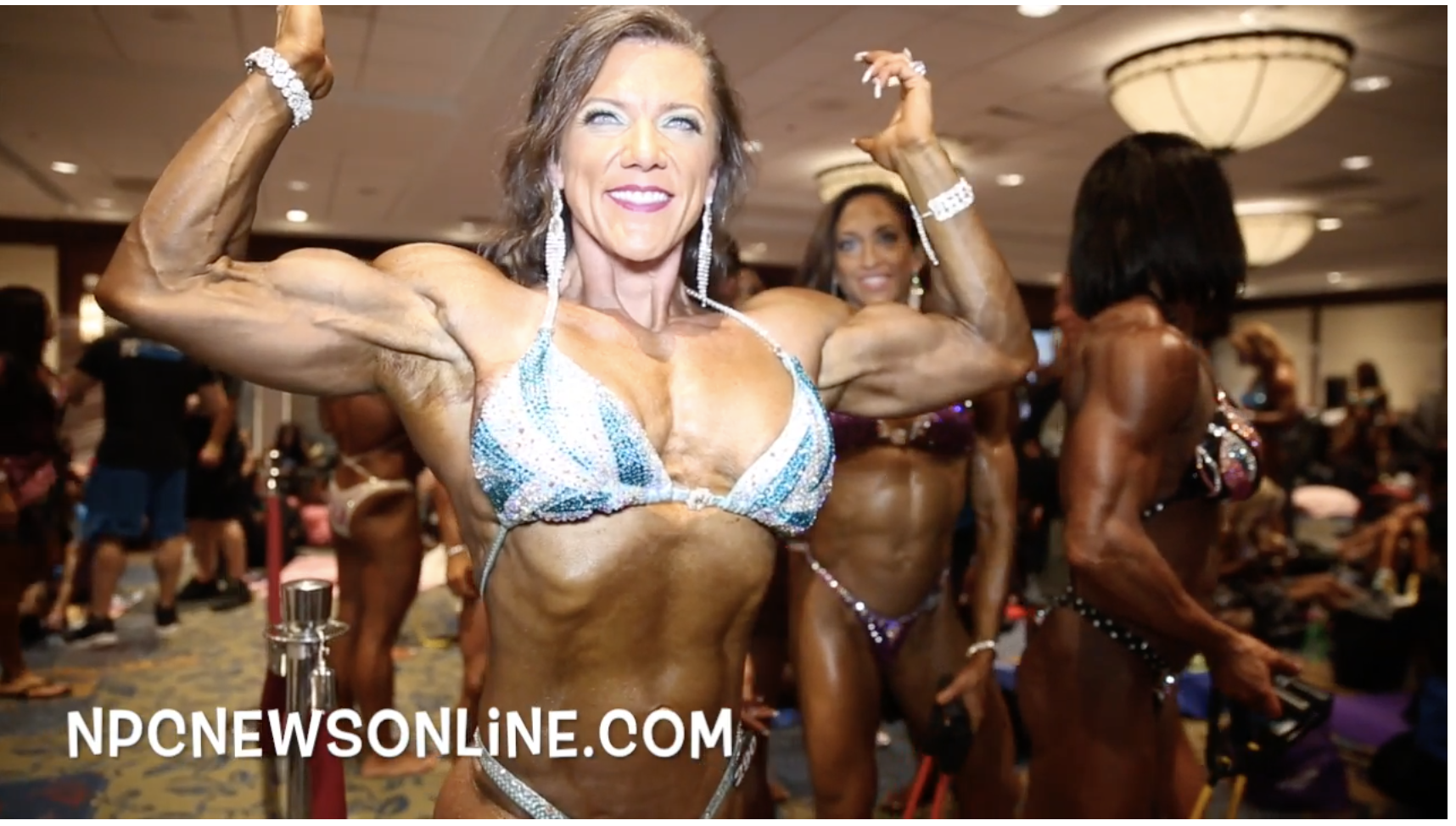 2017 IFBB North American Championships Masters Women's Physique Backstage Video