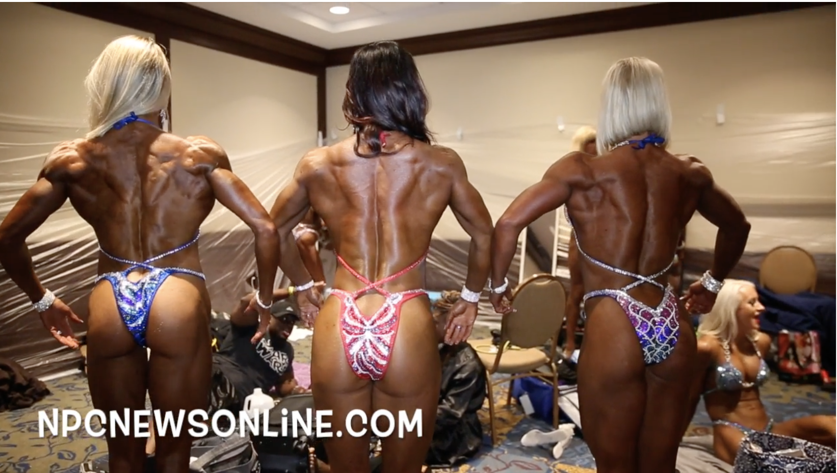 2017 IFBB North American Open Women's Figure Backstage Video