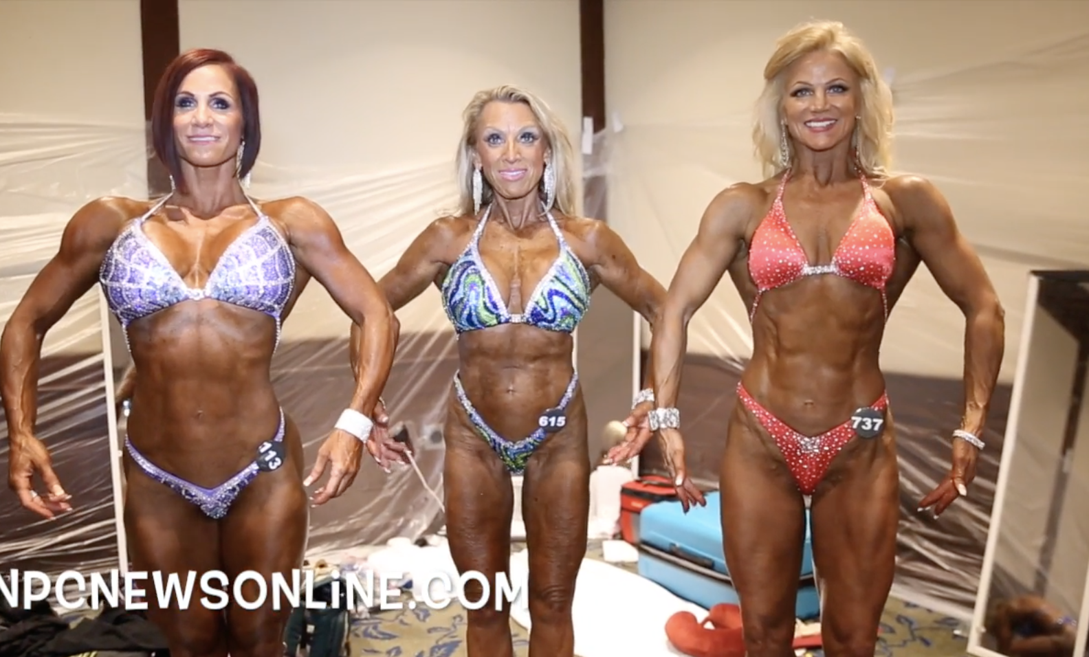 2017 IFBB North American Masters Figure Backstage Video