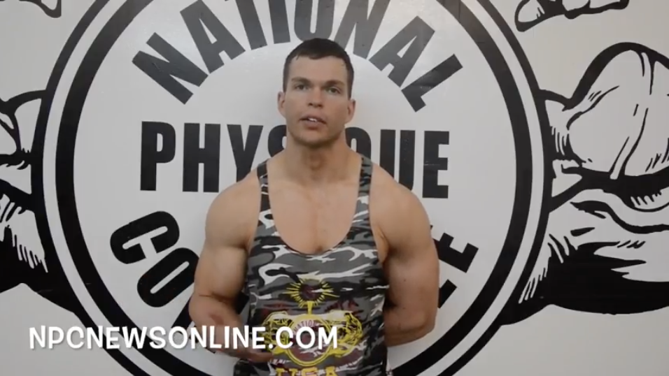 NPC Classic Physique Competitor James Anthony Smith Posing Tip Video