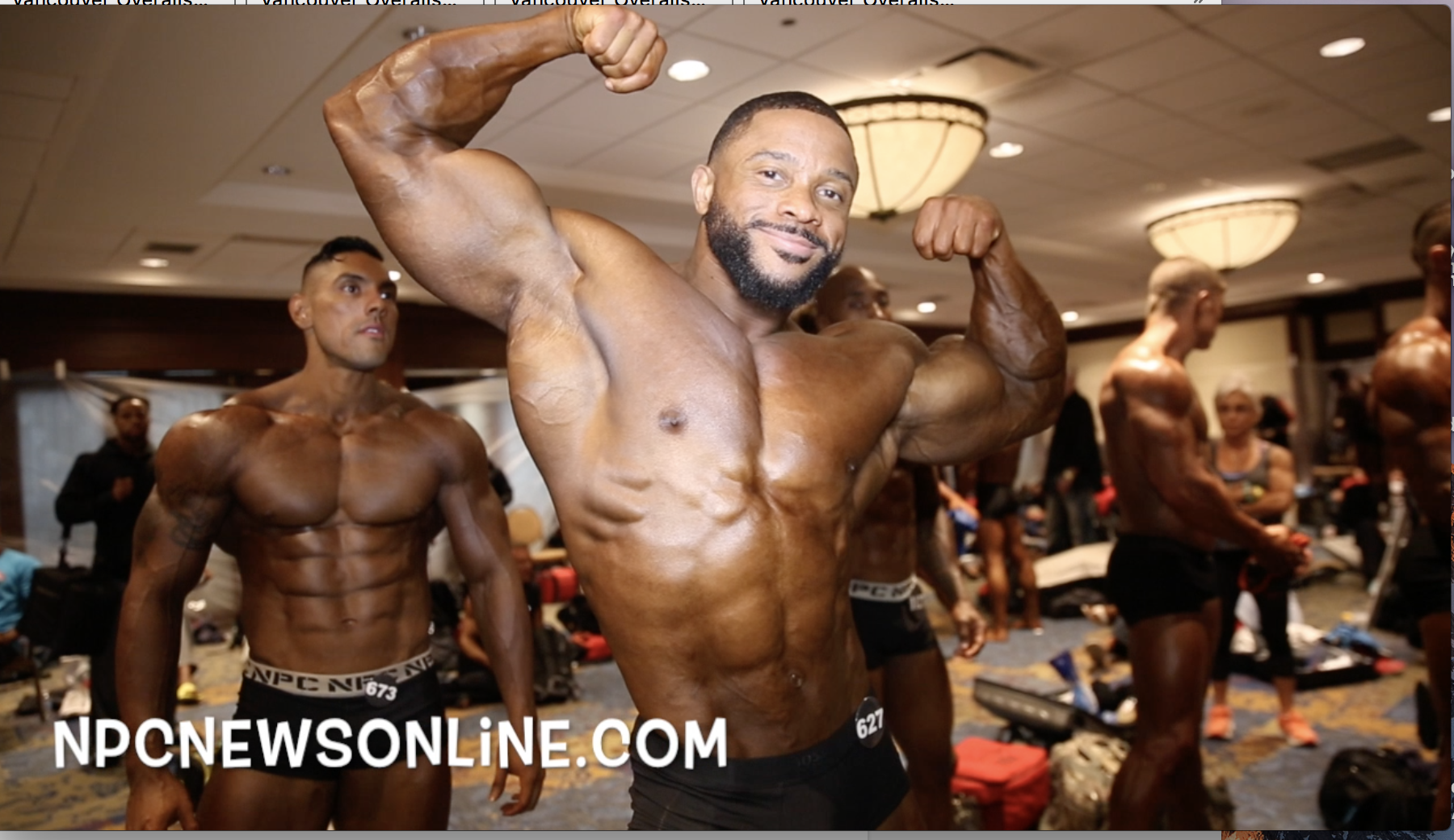 2017 IFBB North American Open Men's Classic Physique Backstage Video.