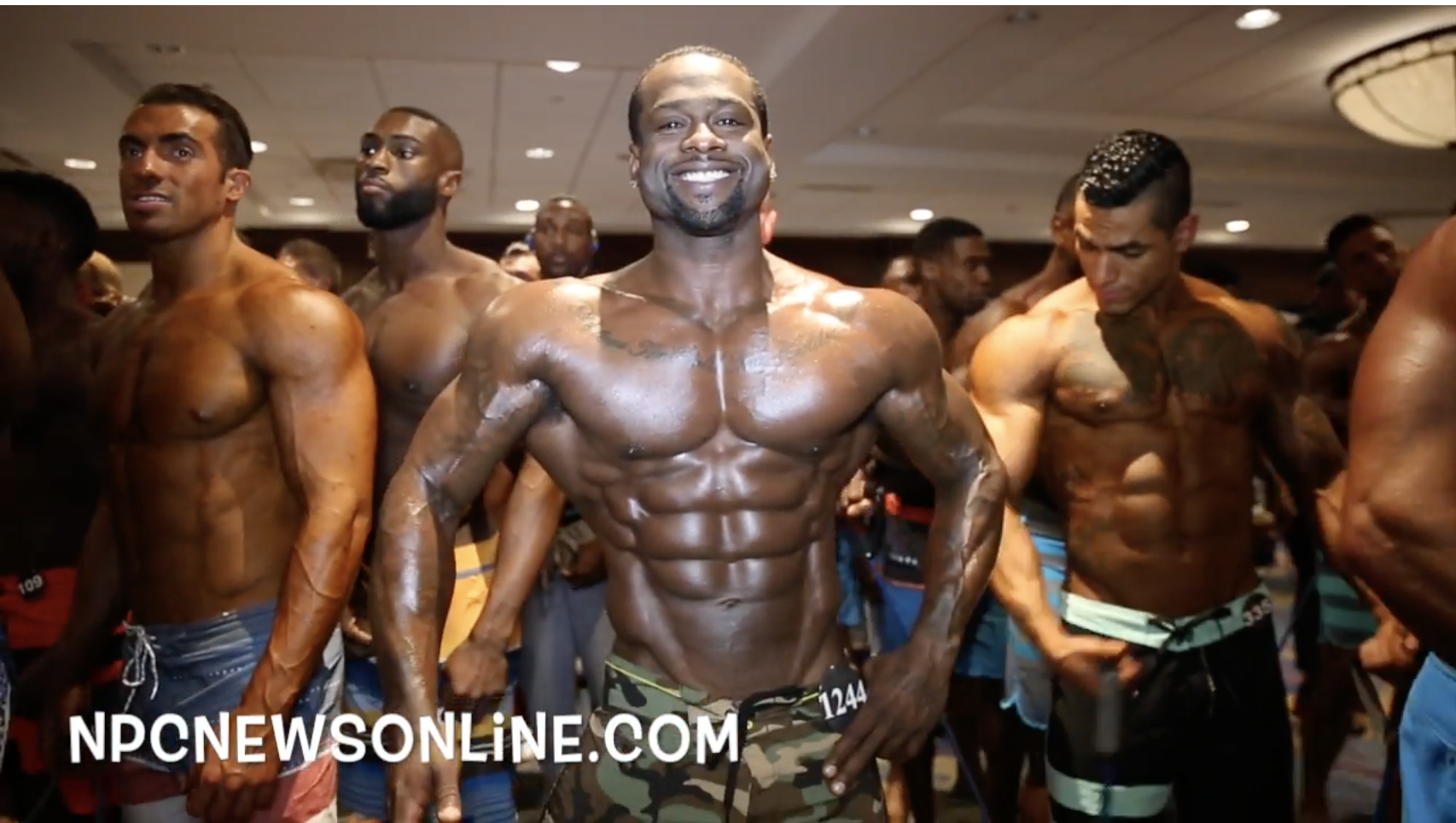 2017 IFBB North American Open Men's Physique Backstage Video.