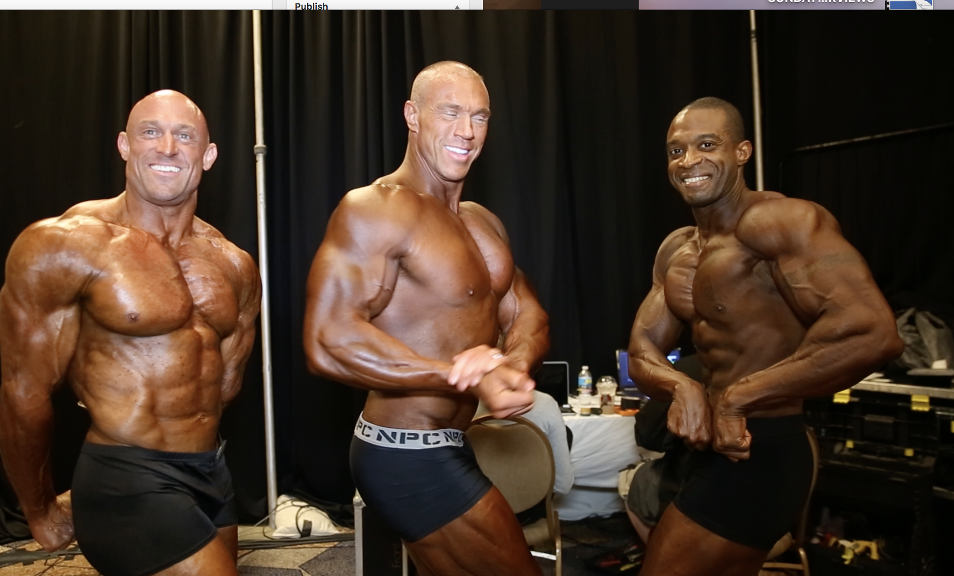 2017 IFBB North American Masters Men's Classic Physique Backstage Video