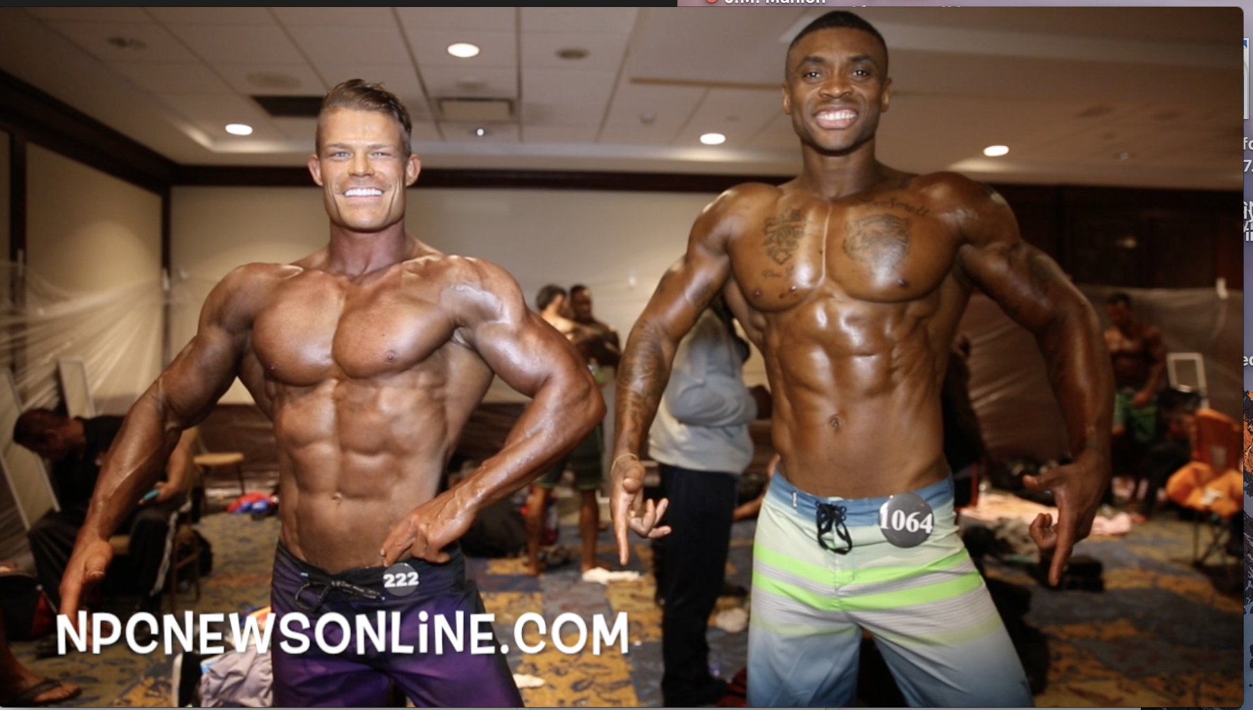 2017 IFBB North American Masters Men's Physique Backstage Video