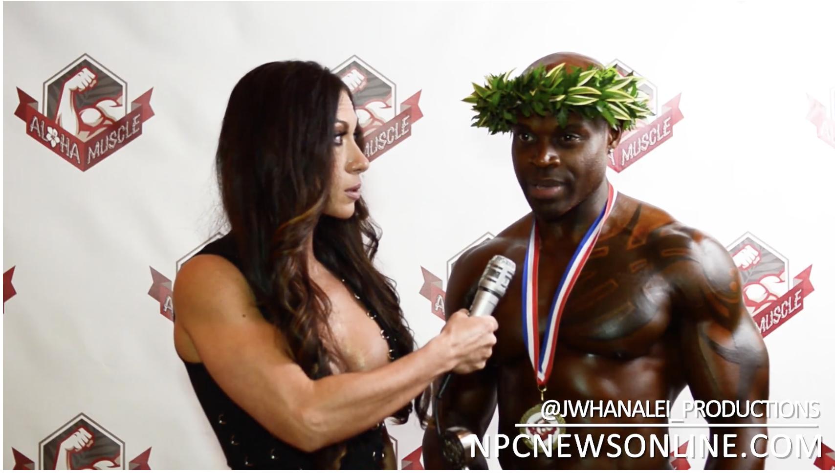 2017 NPC Aloha Muscle Masters Men's Physique Overall Winner Derrick Stevenson