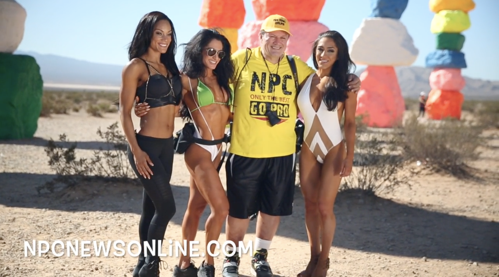 2017 J.M. Manion Seven Magic Mountains Shoot Behind the Scenes Video With IFBB Bikini Pro's Breena Martinez, Christie Marquez & Tamara Jordan Haddad