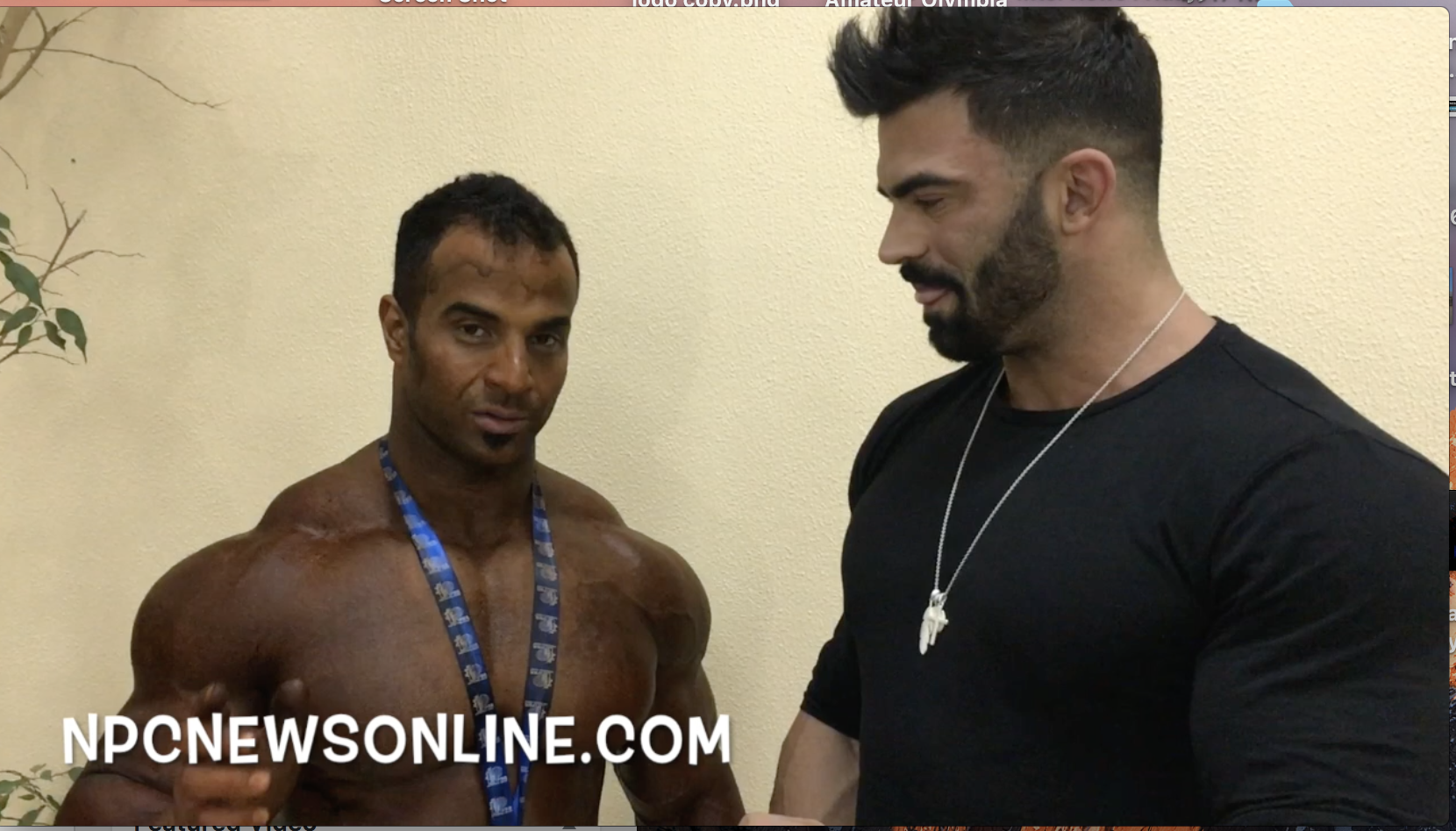 2017 IFBB Kuwait Pro Qualifier Men's 212 Winner Ahmed Talat Elsadany interviewed by Sergi Constance