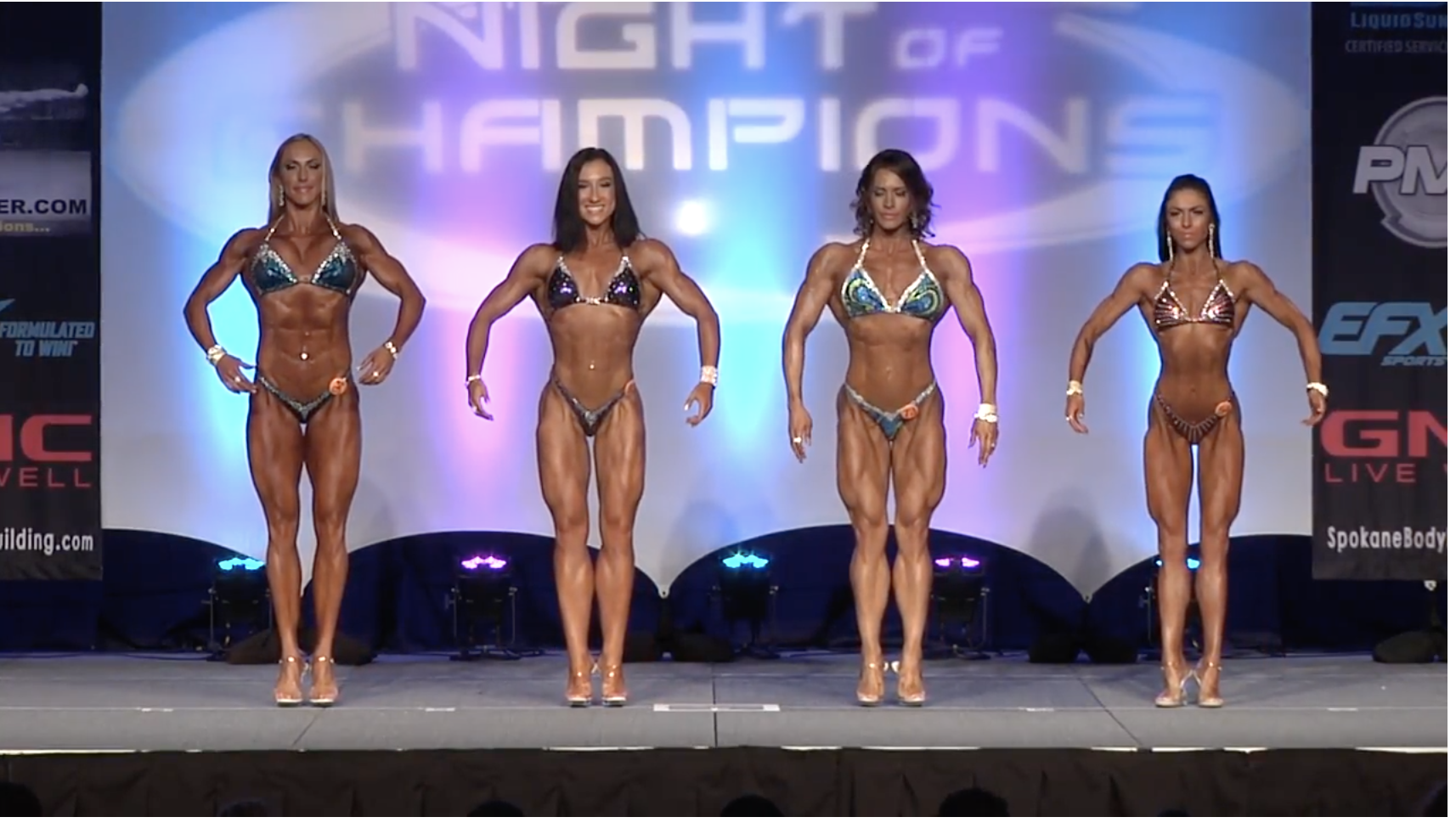 2017 NPC Night of Champions Women's Figure Overall Video