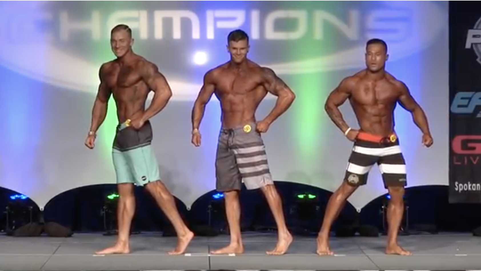2017 NPC Night of Champions Men's Physique Overall Video