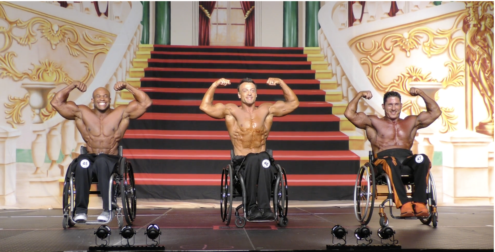 2017 IFBB Europa Dallas Wheelchair Comparisons Video