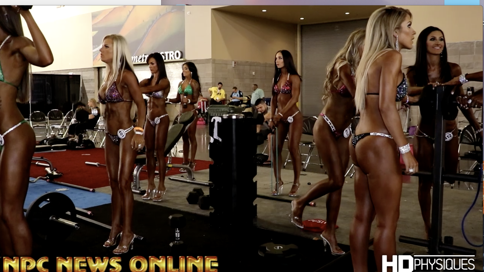 2017 NPC Phoenix Europa Backstage Bikini Video