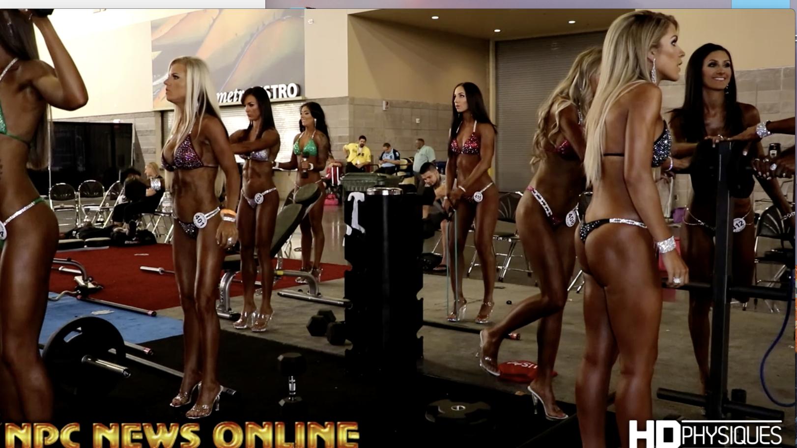 2017 NPC Phoenix Europa Backstage Bikini Video
