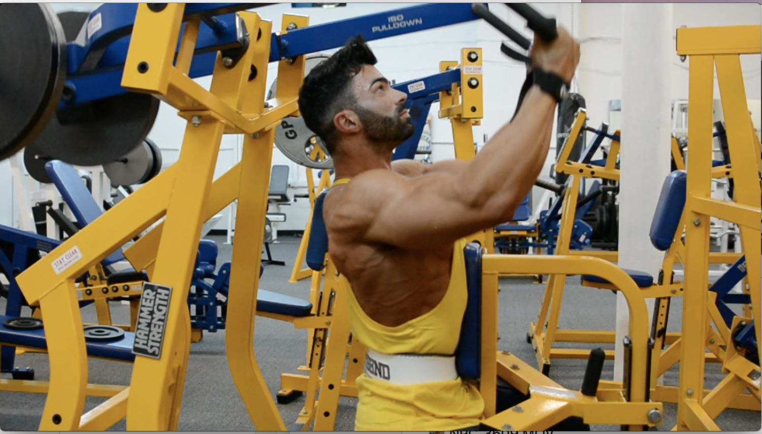 IFBB Men's Physique Pro  Sergi Constance Back/Traps Workout At The NPC Photo Gym.