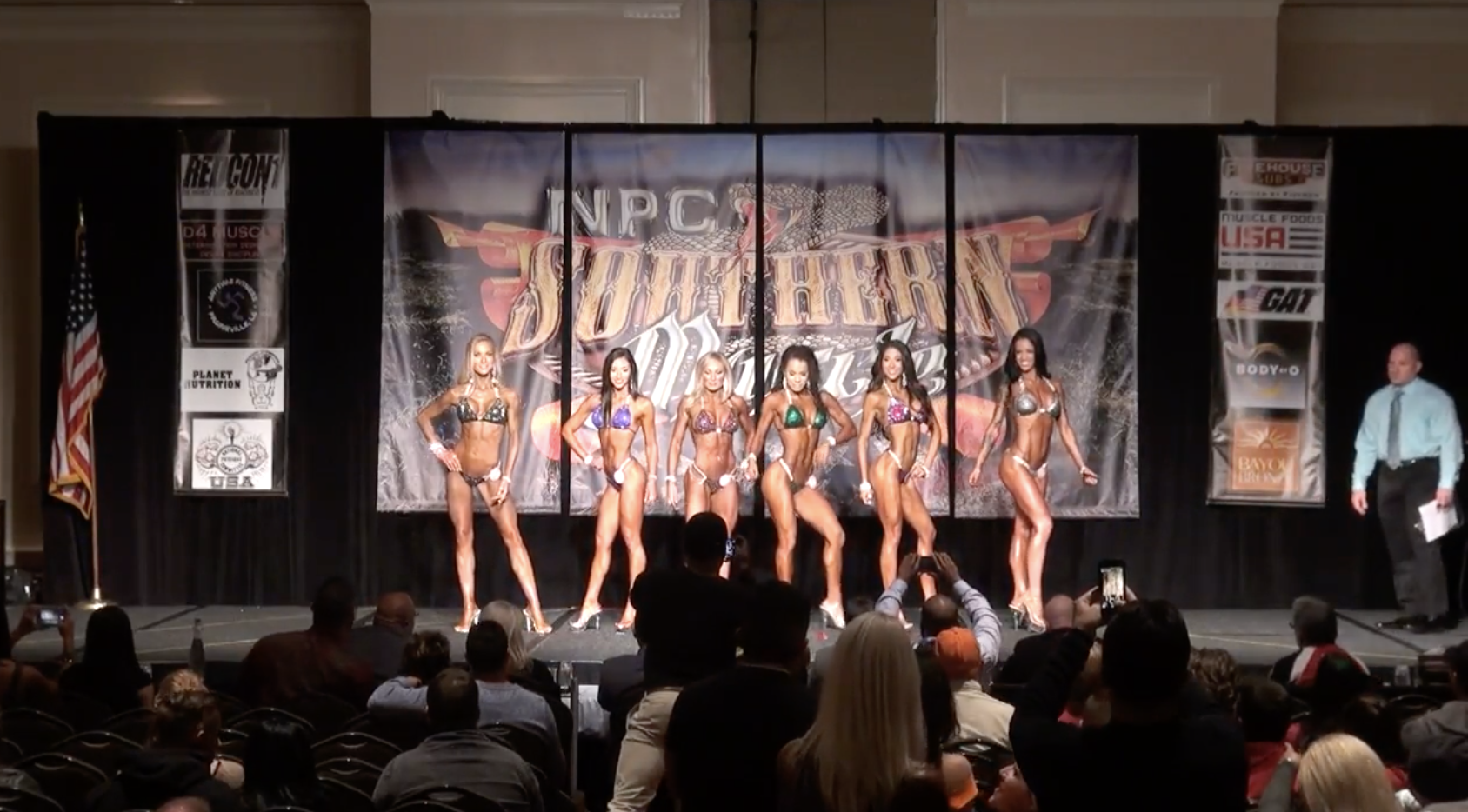 2017 NPC SOUTHERN MUSCLE  BIKINI OPEN OVERALL EVENING SHOW VIDEO