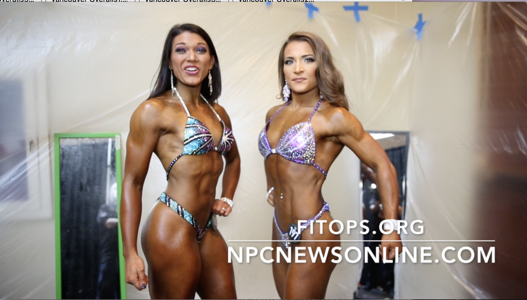 2017 NPC EASTERN USA WOMEN'S FIGURE BACKSTAGE VIDEO PART 1