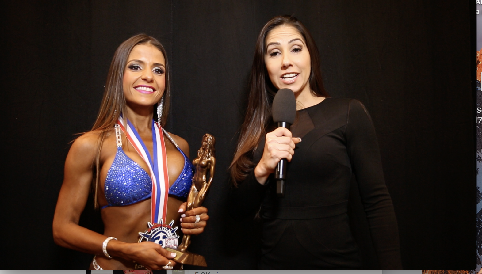 2017 NPC Eastern USA Bikini Overall Winner Video Interview By Ms.Bikini Olympia Angelica Teixeira