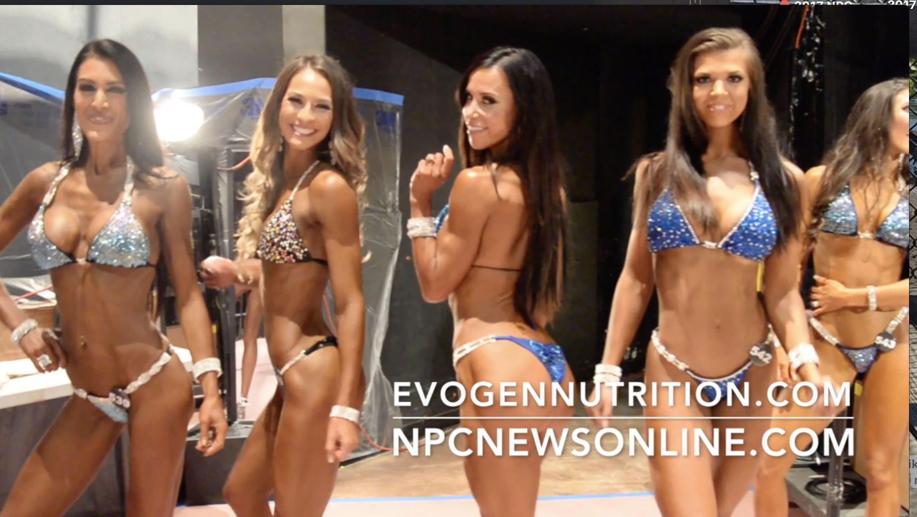 2017 NPC National Bodybuilding Championships: Bikini Backstage Video Part 1.