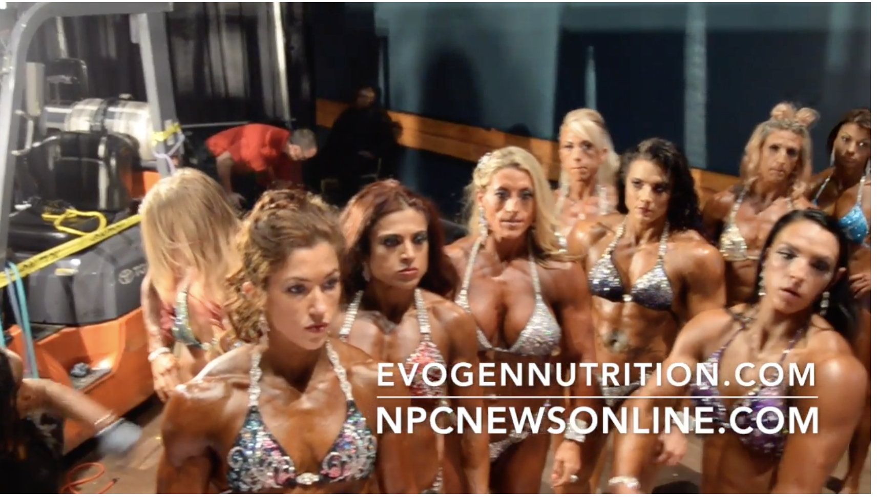 2017 NPC Nationals Womens Physique Backstage Video Pt.1