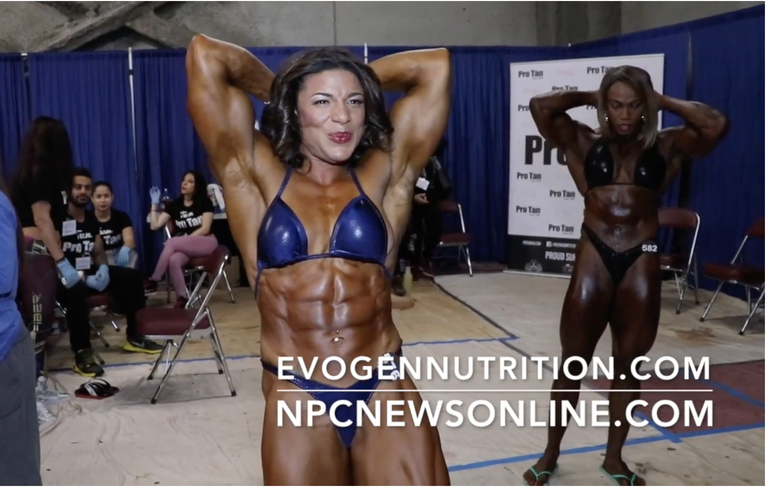 2017 NPC Nationals Women's Bodybuilding Backstage Video Pt.1
