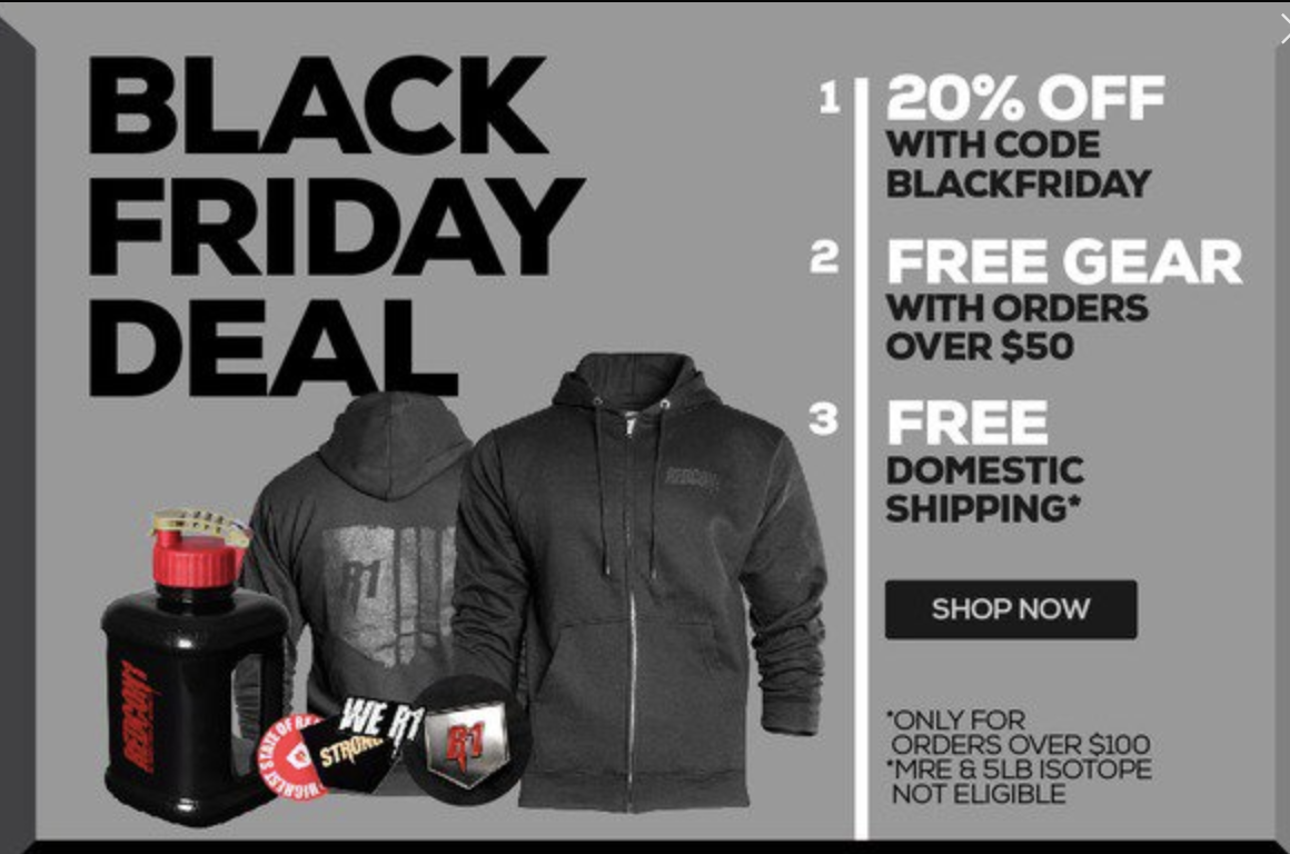 REDCON1 BLACK FRIDAY SALE: SEE AMAZING OFFER!