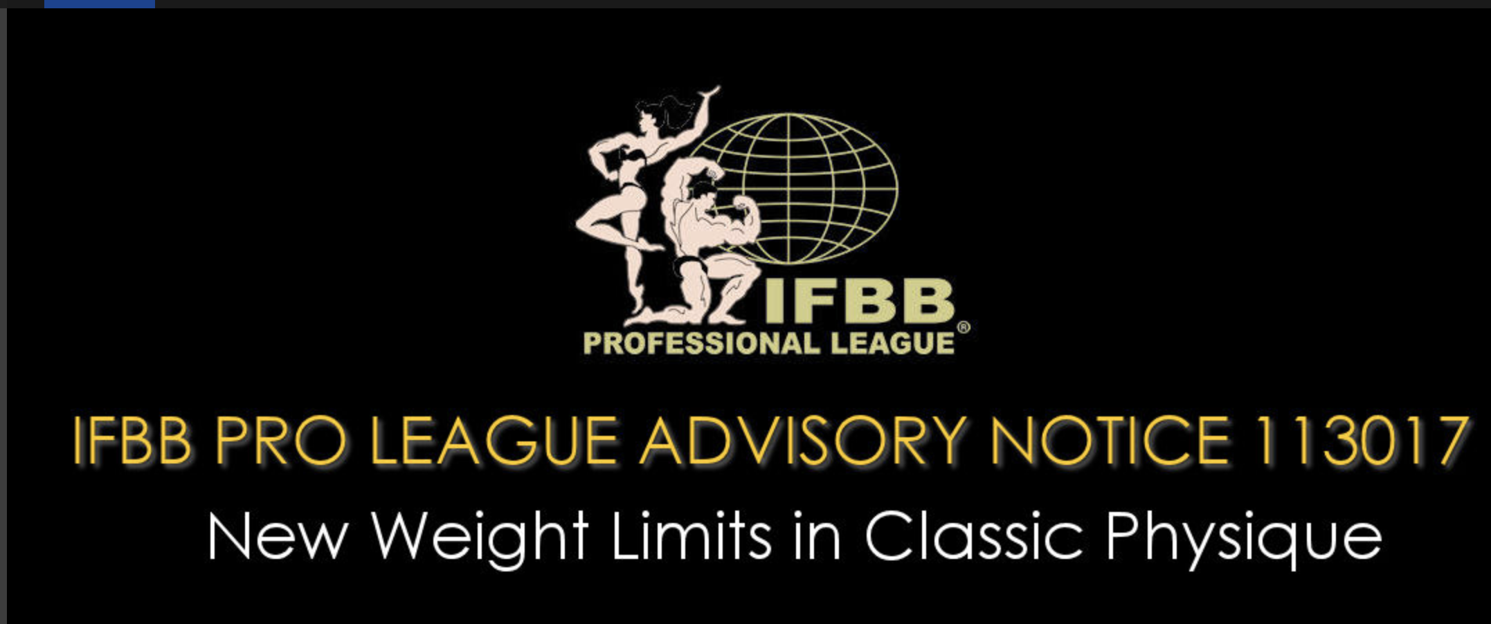 NPC NEWS ONLINE UPDATE: New IFBB Classic Physique Weight Limits