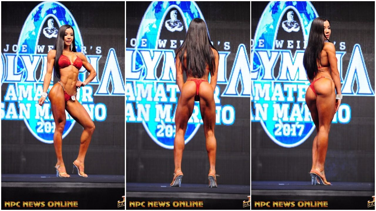 """YOU WIN AND YOU'RE IN""  KIM HAYEUN WON BOTH THE SAN MARINO AMATEUR OLYMPIA  & PRO SHOW THIS WEEKEND: OLYMPIA BOUND!"