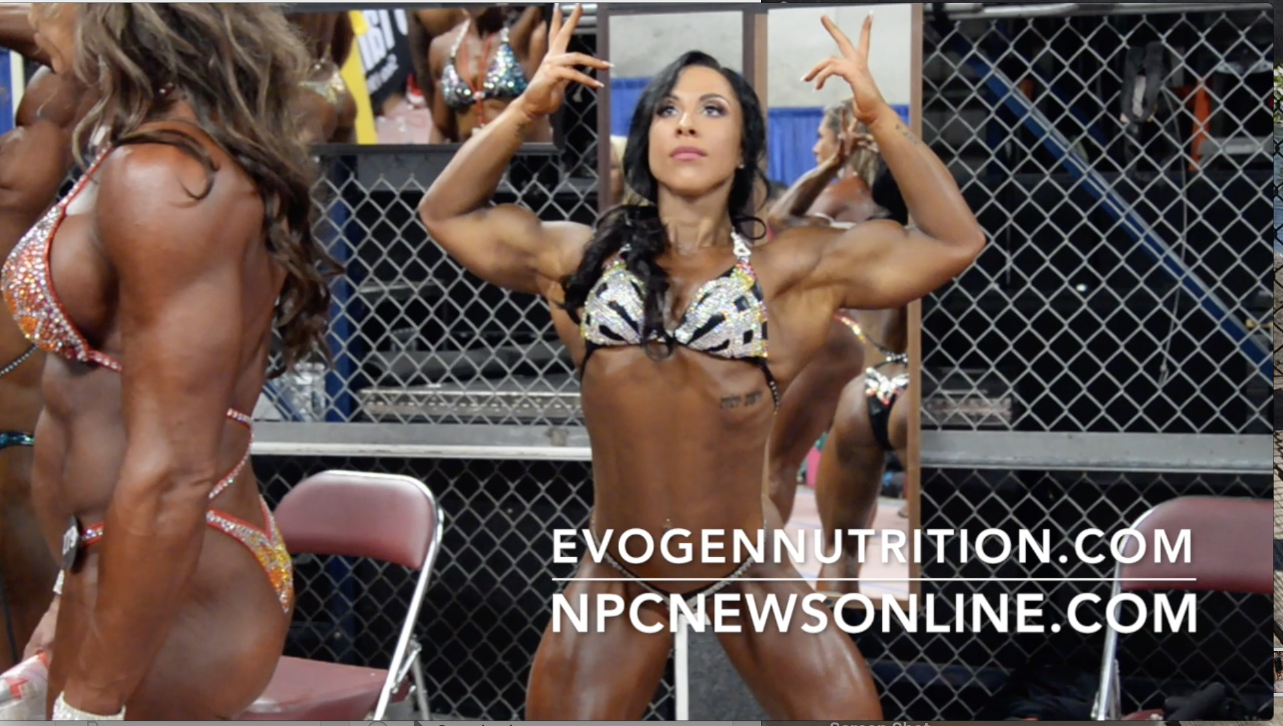 2017 NPC Nationals Women's Physique Backstage Video Part 2