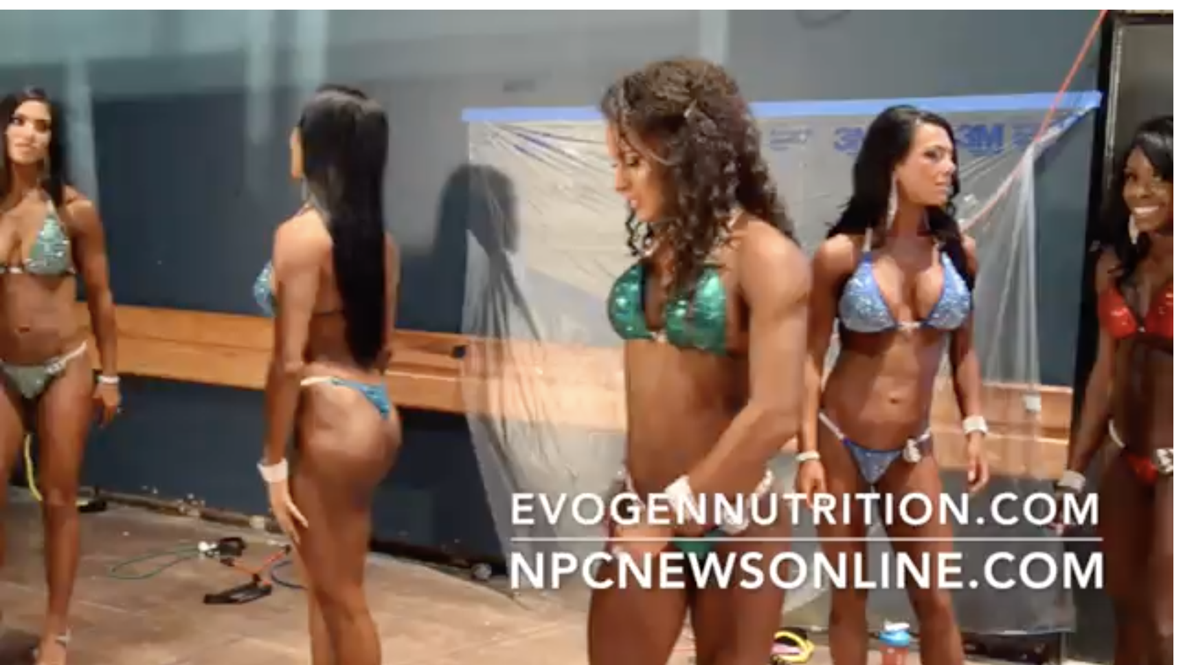 2017 NPC Nationals Bikini  Backstage Video Part 4