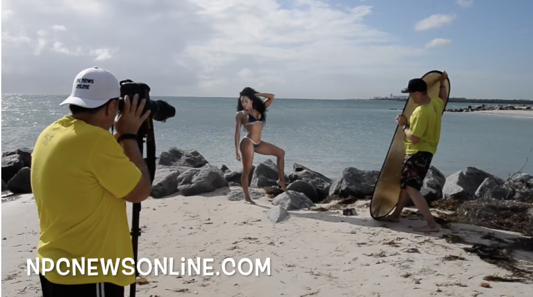 IFBB Bikini Pro Shandy Ortiz At The 2017 J.M. Manion Virginia Key Beach Shoot.
