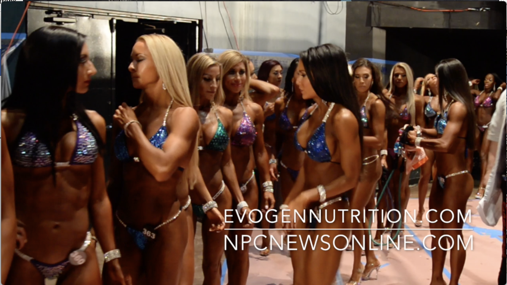 2017 NPC Nationals Bikini Backstage Video Part 5