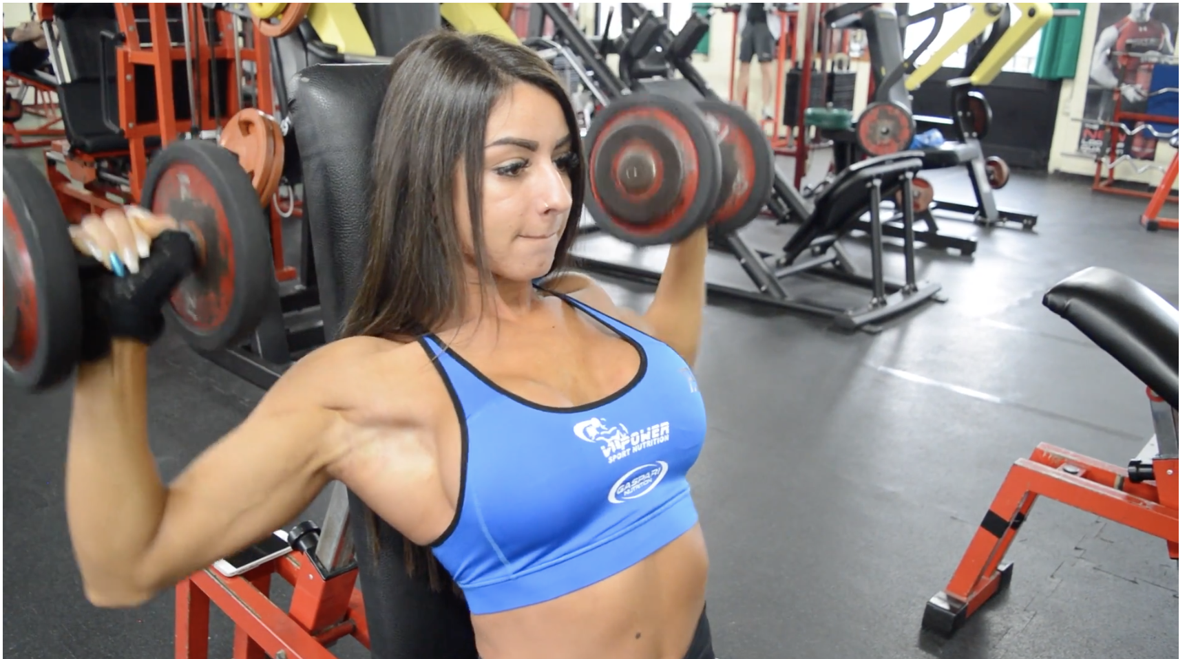 IFBB Bikini Pro Francesca Stoico Training Shoulders Video