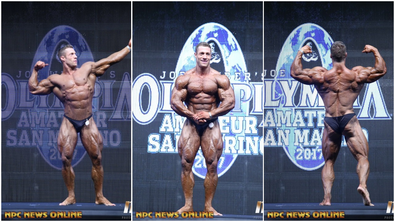 2017 AMATEUR OLYMPIA SAN MARINO MEN'S BODYBUILDING PRO CARD WINNER SPOTLIGHT TIM  BUDESHEIM