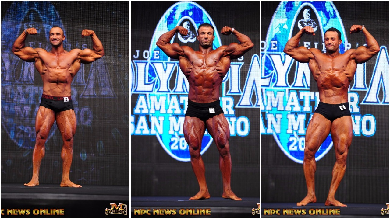 2017 AMATEUR OLYMPIA SAN MARINO: MEN'S CLASSIC PHYSIQUE PRO CARD WINNER PHOTO GALLERY