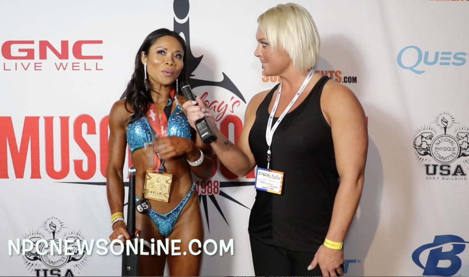 2018 NPC Muscle Contest Challenge Women's Figure Winner Angel Tran Contest Video